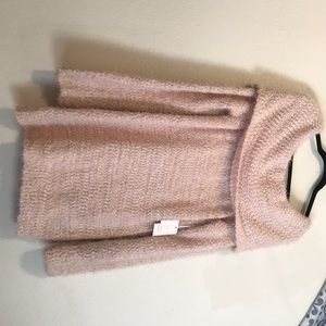 Cowl neck blush pink sweater